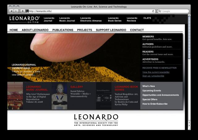 Leonardo website